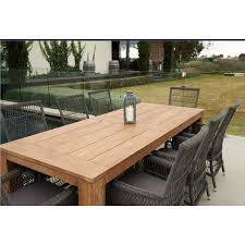 bairo recycled teak table 240 x 100cm inspired outdoor living