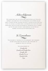 sle wording for wedding programs wedding program remembrance wording wedding ideas 2018