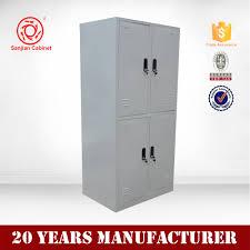 Clothes Cabinet Gym Locker Use Metal 4 Door Storage Locker Clothes Cabinet