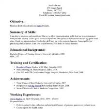example resume sample for working students nice computational