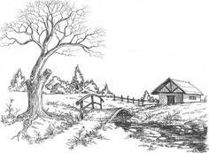 a landscape drawing lesson and free caran d u0027ache pencils