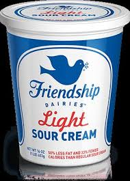 light sour cream nutrition friendship dairies 2 pot style cottage cheese our products