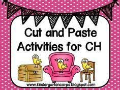 free digraphs ch verses sh kids cut paste and sort
