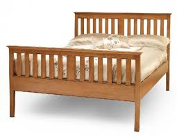 serene grace 4ft small double cherry wooden bed frame with high