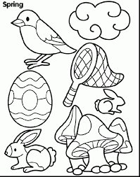 superb spring coloring pages with springtime coloring pages