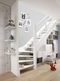 stairs but natural with metal wire railing house decor