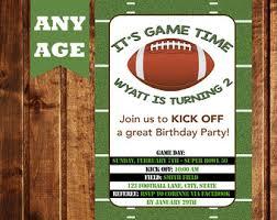 football invitation etsy