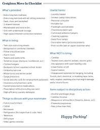 College Toiletries Checklist What To Bring To Campus Residential Life And Housing Creighton