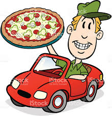 cartoon convertible car pizza delivery guy in car stock vector art 165722224 istock