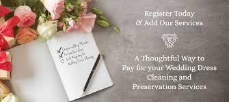 wedding registry services myregistry for wedding dress services by elegance preserved