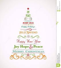 uitstekende kerstboom met tekst en elementen vector illustratie