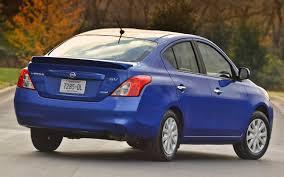 blue nissan versa back on bottom 2014 nissan versa sedan still cheapest in u s