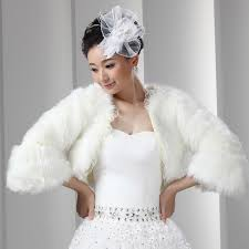 faux fur bolero with sleeves lace adorned short women coat jacket