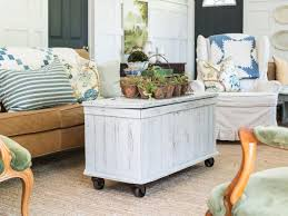 Caster Coffee Table Add Casters To An Antique Trunk For A Mobile Coffee Table Hgtv