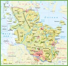 Printable Map Of Germany by Schleswig Holstein Physical Map