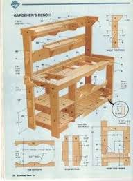Plans For Making A Garden Table by Diy How To Build A Garden Potting Bench Living Green And