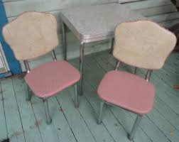 1950s Kitchen Furniture Mid Century Chrome Formica Kitchen Table 2 Chairs Childrens Size