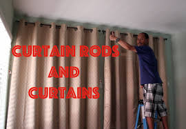 Installing Drapery Rods Installing Curtain Rods And Hanging Curtains Youtube