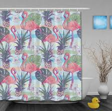 flamingo shower curtain flamingos on a blue background the soft