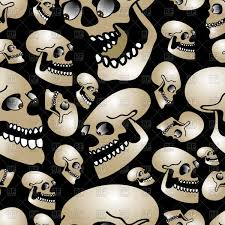 halloween background skulls halloween yellow seamless background with ornate skulls and bats
