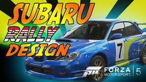 subaru hatchback custom rally forza 5 custom paint job subaru rally car youtube