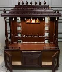 pooja mandapam designs wooden pooja mandir in usa by vishranthi creations