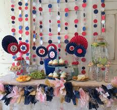 nautical baby shower decorations red white and blue party