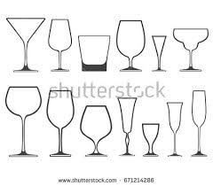 Types Of Wine Glasses And Their Uses About Glass Set Empty Different Shapes Wine Glasses Stock Illustration