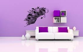 wall decals stickers home decor home furniture diy wall decal sticker bedroom decor feather flowers bedroom beautiful art bo2521