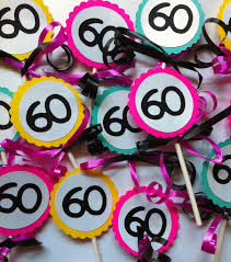 60th birthday decorations 60th birthday decorations cupcake toppers 60bday