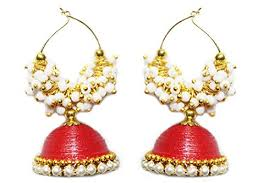 quilling earrings set yathnics jhumka quilling earrings set ethnic jewelry