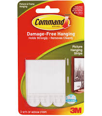 command medium picture hanging strips 5 x2 75 3 set pkg white