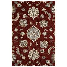 shop allen roth telgany garnet rectangular indoor area rug