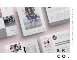 Home Design Media Kit Media Kit Template Fashionista Diy Media Kit Templates