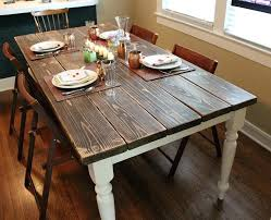rustic farm table chairs kitchen table ideas diy rustic dining table ideas magnificent white
