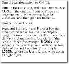 how do i enter the radio code on a acura tl 2006