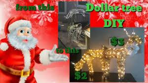 Dollar Tree Christmas Lights Dollar Tree Outdoor Reindeers Revamp Diy Youtube