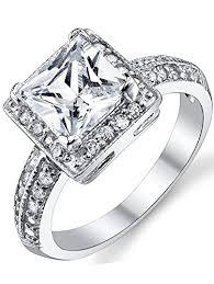 4 carat cubic zirconia engagement rings 2 carat princess cut cubic zirconia sterling silver
