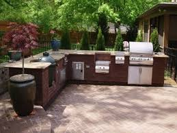 l shaped bbq island designs dark brick l shaped outdoor kitchen 3