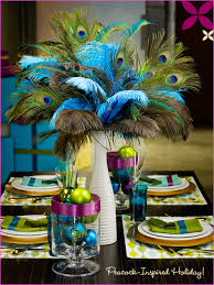 peacock centerpieces peacock embellished party centerpieces the feather girl