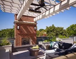 Pergola Ceiling Fan by Gazebo Fireplace Deck Traditional With Ceiling Fan Brick Outdoor
