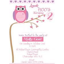 olivia owl personalised birthday invitations u2014 natalie williamson