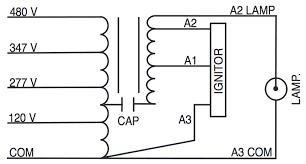 metal halide l circuit diagram m750 120 277 347 480 ps kit sylvania 47409 metal halide ballast kit