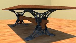 Metal Conference Table Custom Made Steel Trestle Conference Table By Puddle Town