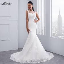 miaoduo vintage mermaid wedding dress full length scoop neck