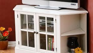 Oak Tv Cabinets With Glass Doors Astonishing Corner Tv Cabinets With Glass Doors Black Pics Of For