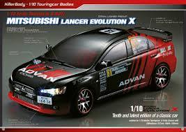mitsubishi lancer evolution killerbody mitsubishi lancer evolution rc cars rc parts and rc