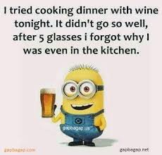 Funny Cooking Memes - funny minion memes about wine vs cooking minion quotes