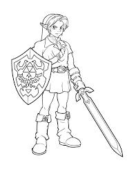 Coloriage De Twilight Coloriage 1 Dessin Zelda Lineart Zelda  Link