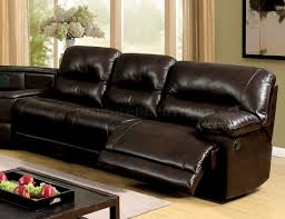 reclining sectional sofa cm6822br in brown leatherette